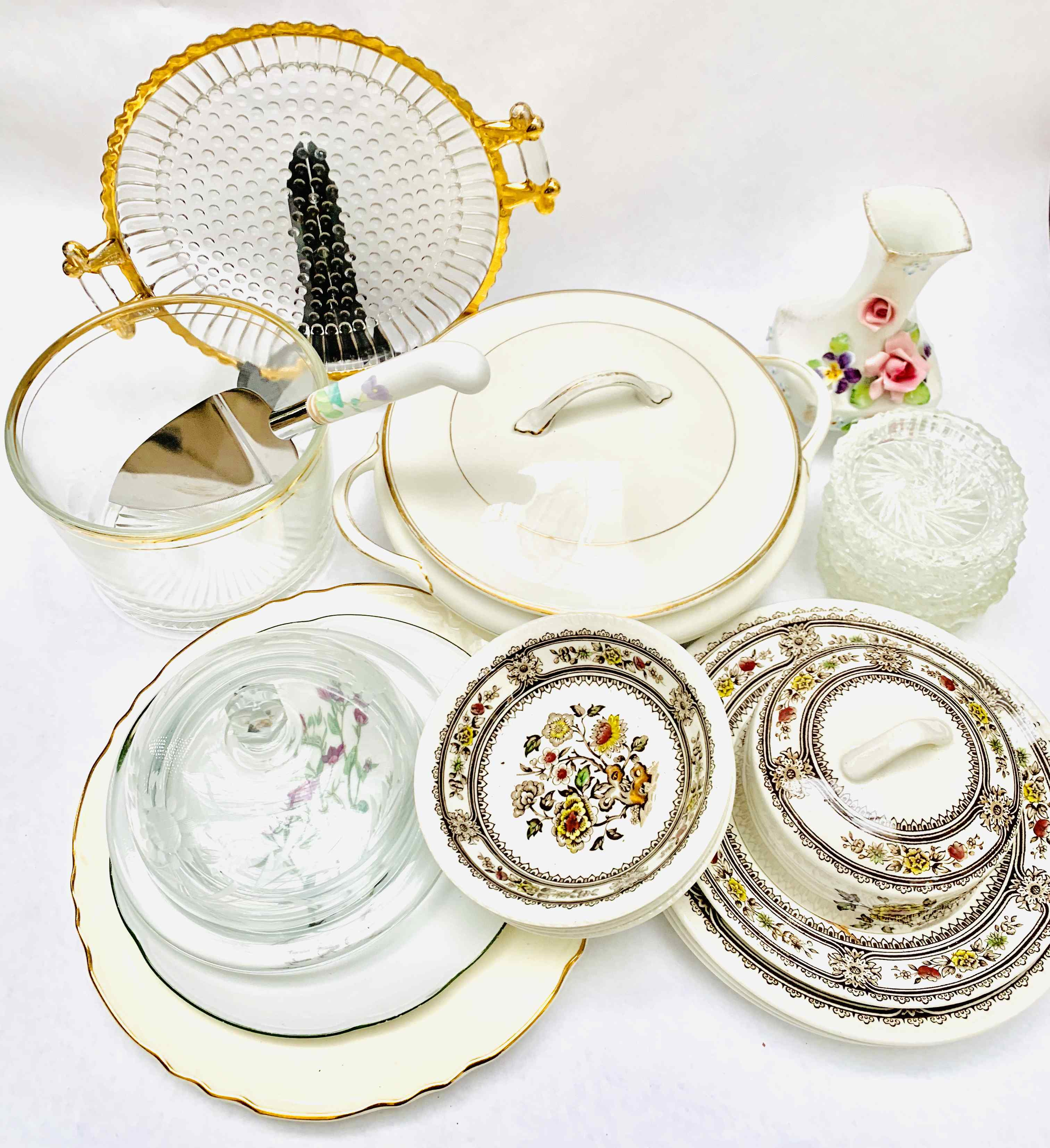 Large Lot of various China & Glassware