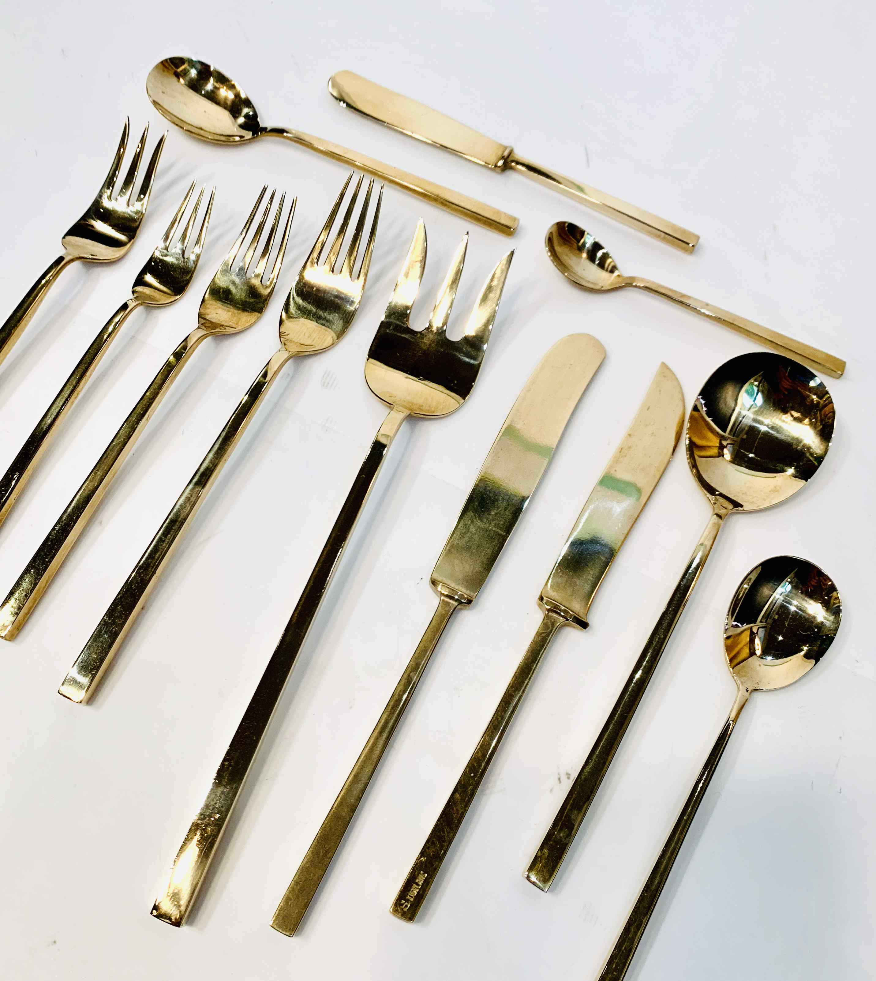 Mid-Century Modern Huge Cutlery Set with Box
